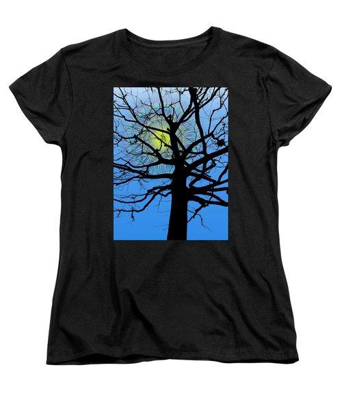 Arboreal Sun Women's T-Shirt (Standard Cut) by Tim Allen