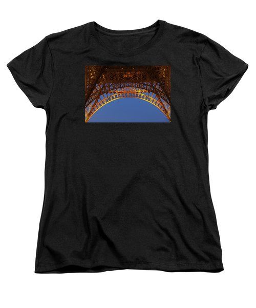 Women's T-Shirt (Standard Cut) featuring the photograph Arches Of The Eiffel Tower by Andrew Soundarajan