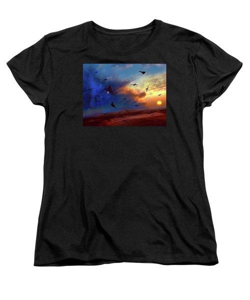 Area 51 Groom Lake Women's T-Shirt (Standard Cut) by Dave Luebbert