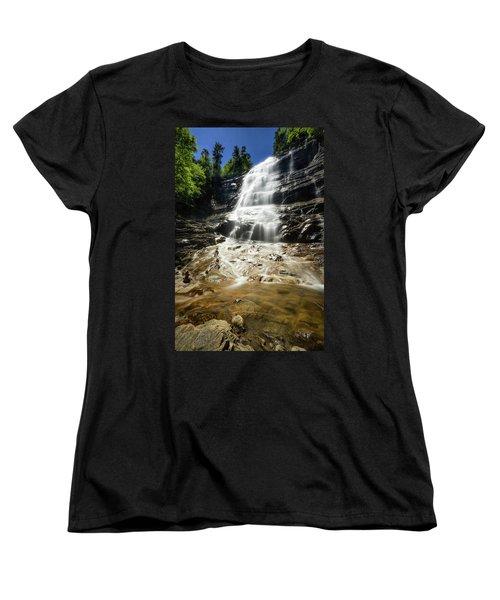Women's T-Shirt (Standard Cut) featuring the photograph Arethusa Falls by Robert Clifford