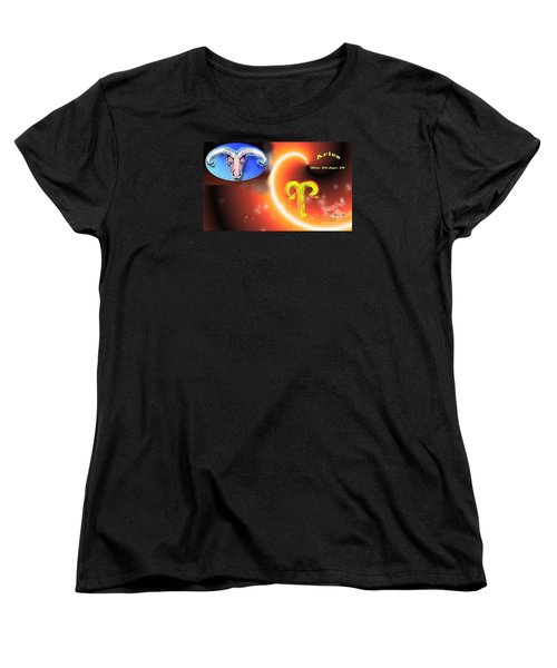 Women's T-Shirt (Standard Cut) featuring the painting Aries by The Art of Alice Terrill
