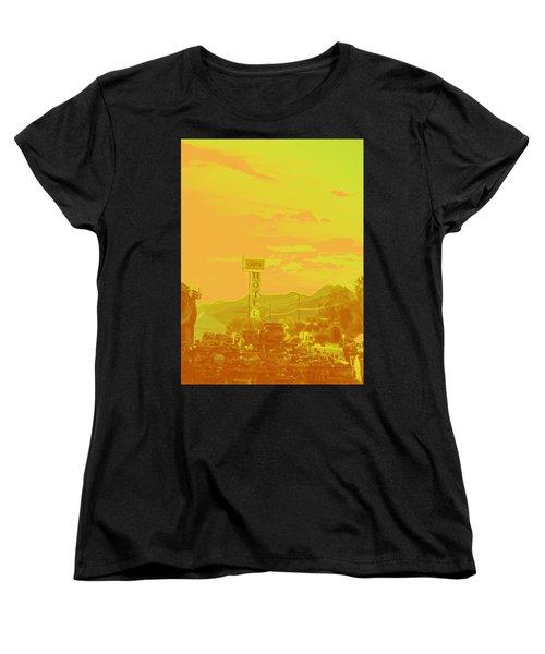 Women's T-Shirt (Standard Cut) featuring the photograph Arizona Road I by Carolina Liechtenstein