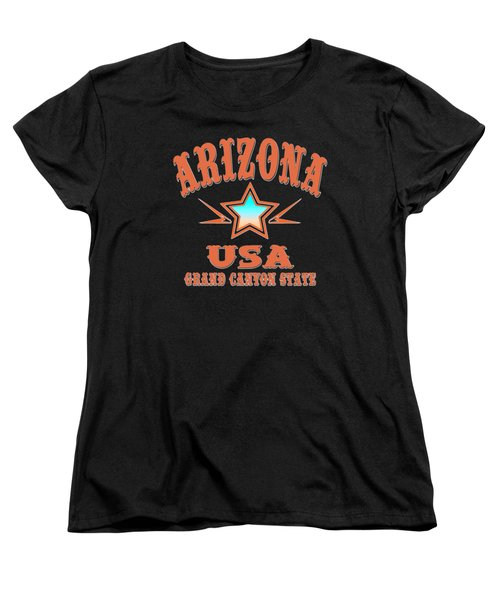 Arizona U. S. A. Grand Canyon State Women's T-Shirt (Standard Cut)