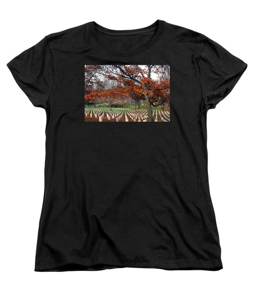 Arlington Cemetery In Fall Women's T-Shirt (Standard Cut)