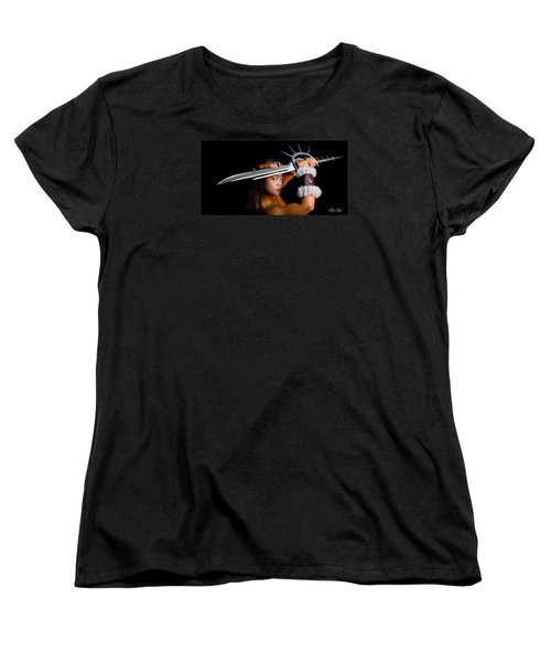 Armed And Dangerous Women's T-Shirt (Standard Cut) by Rikk Flohr