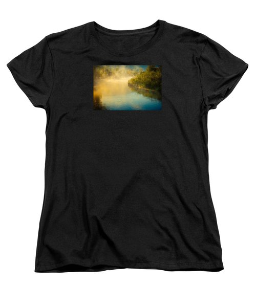 Women's T-Shirt (Standard Cut) featuring the photograph Around The Bend by Don Schwartz