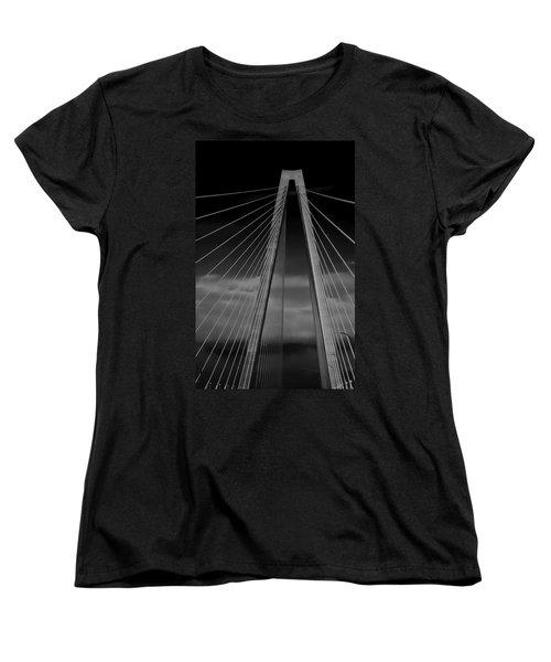 Arthur Ravenel Jr Bridge Women's T-Shirt (Standard Cut) by DigiArt Diaries by Vicky B Fuller