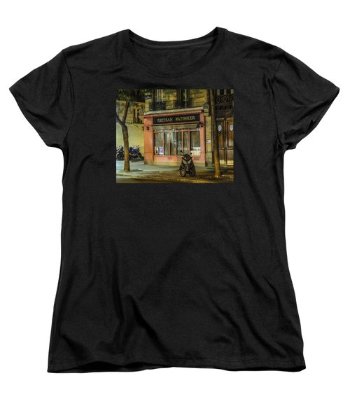Artisan Patissier Montmartre Paris Women's T-Shirt (Standard Cut) by Sally Ross