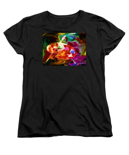 Artist Palette In Neon Colors Women's T-Shirt (Standard Cut)