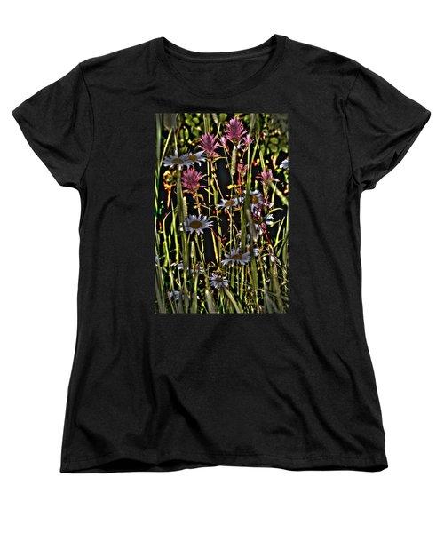 Artistic Wildflowers Women's T-Shirt (Standard Cut)
