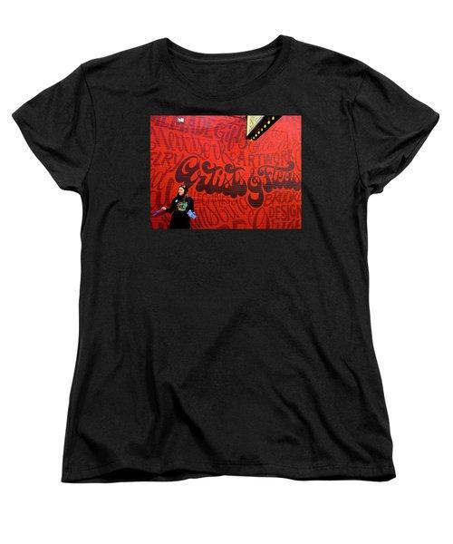 Artists And Fleas In New York  Women's T-Shirt (Standard Cut) by Funkpix Photo Hunter