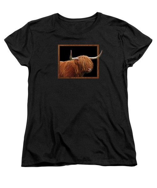 Bad Hair Day - Highland Cow Square Women's T-Shirt (Standard Cut) by Gill Billington