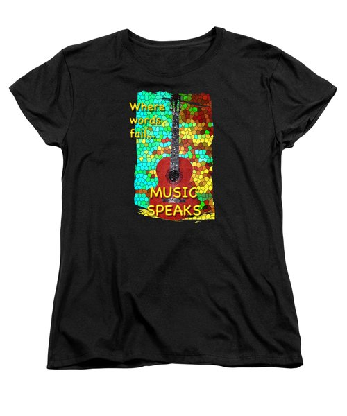 Guitar Fantasy Two Women's T-Shirt (Standard Cut) by Richard Farrington