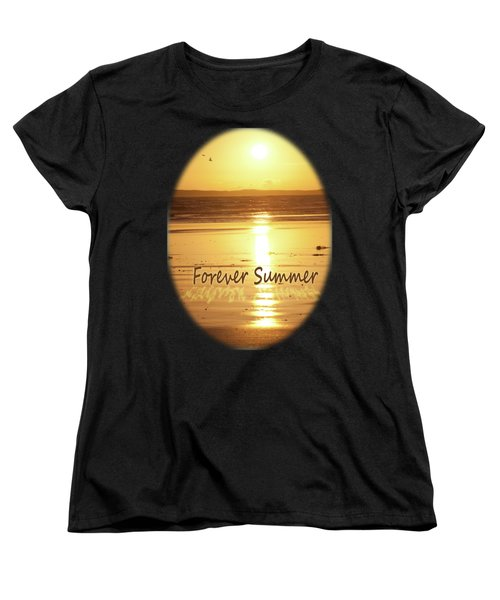 Women's T-Shirt (Standard Cut) featuring the photograph Forever Summer 4 by Linda Lees