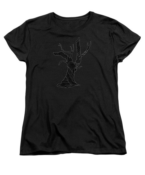 Abstract Gnarly Tree Women's T-Shirt (Standard Cut) by Serena King