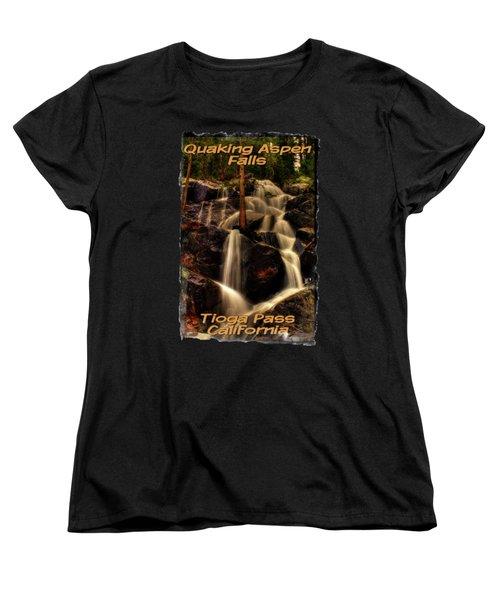 Quaking Aspen Falls Along Tioga Pass  Women's T-Shirt (Standard Cut) by Roger Passman