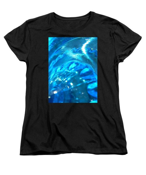 The Beauty Of Blue Glass Women's T-Shirt (Standard Cut) by Samantha Thome