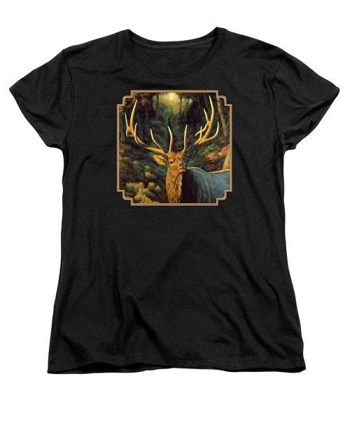 Elk Painting - Autumn Majesty Women's T-Shirt (Standard Fit)