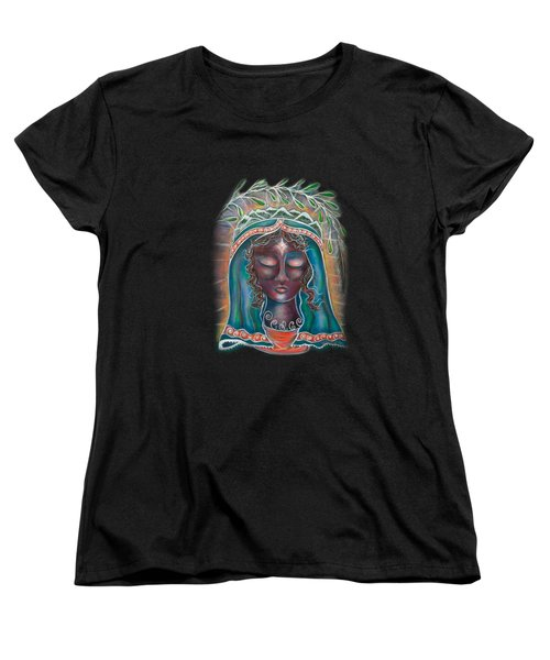Black Madonna Women's T-Shirt (Standard Cut) by Deborha Kerr