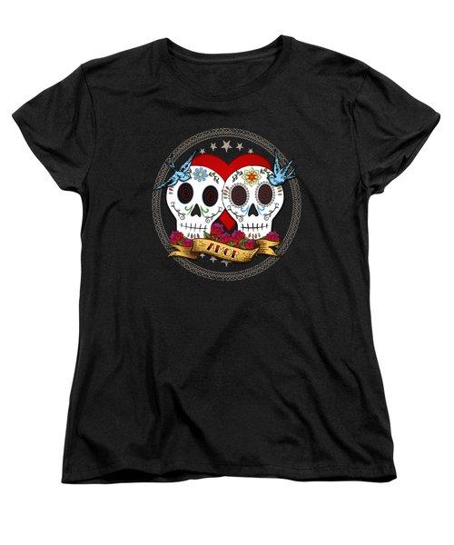 Love Skulls II Women's T-Shirt (Standard Cut) by Tammy Wetzel