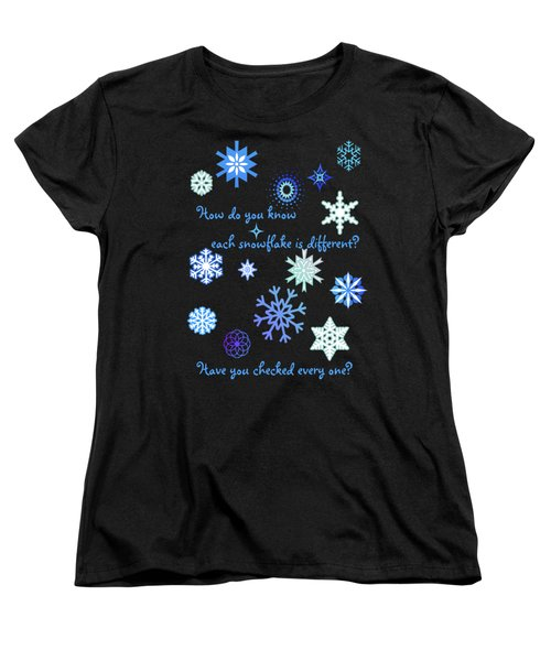 Snowflakes 2 Women's T-Shirt (Standard Cut) by Methune Hively
