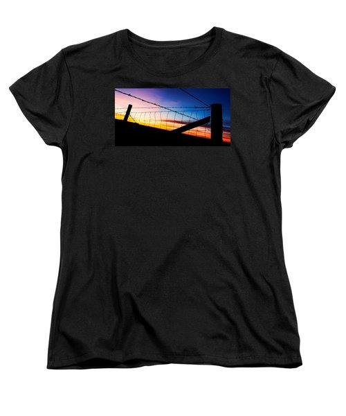 Hilltop Sunset Women's T-Shirt (Standard Cut) by Bill Kesler
