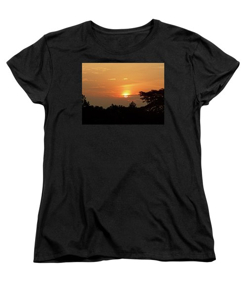 As The Sun Sets ... Orange Women's T-Shirt (Standard Cut) by Exploramum Exploramum