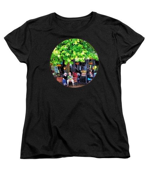 Asheville Nc Outdoor Cafe Women's T-Shirt (Standard Cut) by Susan Savad