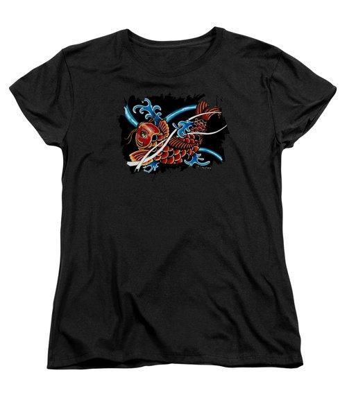 Asian Koi Women's T-Shirt (Standard Cut) by Maria Arango