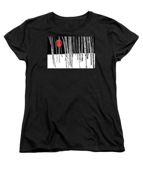 Women's T-Shirt (Standard Cut) featuring the photograph Aspen Grove Winter by Juli Scalzi