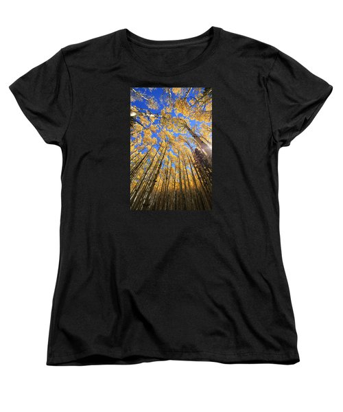 Women's T-Shirt (Standard Cut) featuring the photograph Aspen Hues by Tom Kelly