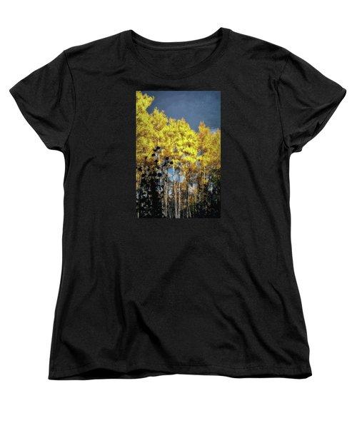 Women's T-Shirt (Standard Cut) featuring the photograph Aspen Impressions by Jim Hill