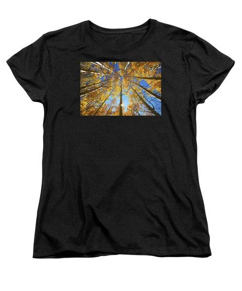 Aspen Tree Canopy 2 Women's T-Shirt (Standard Cut) by Ron Dahlquist - Printscapes