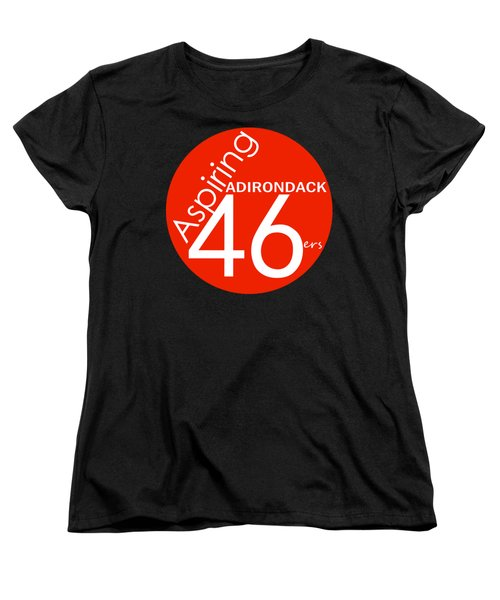 Aspiring Adirondack 46ers Trail Marker Women's T-Shirt (Standard Cut) by Michael French