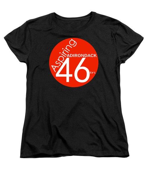 Aspiring Adirondack 46ers Trail Marker Women's T-Shirt (Standard Cut) by Michael French