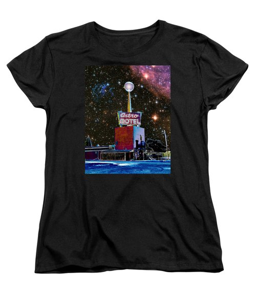 Women's T-Shirt (Standard Cut) featuring the photograph Astro Motel by Jim and Emily Bush