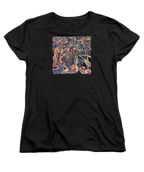 Astrocytes Microbiology Landscapes Series Women's T-Shirt (Standard Cut) by Emily McLaughlin