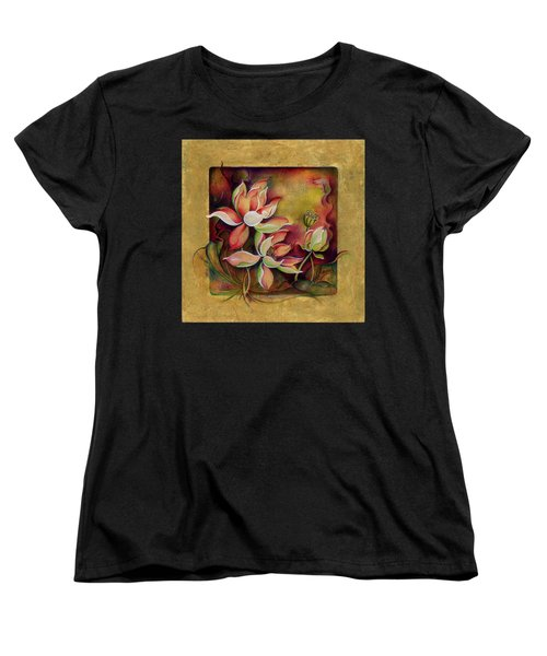 Women's T-Shirt (Standard Cut) featuring the painting At A Family Wander by Anna Ewa Miarczynska