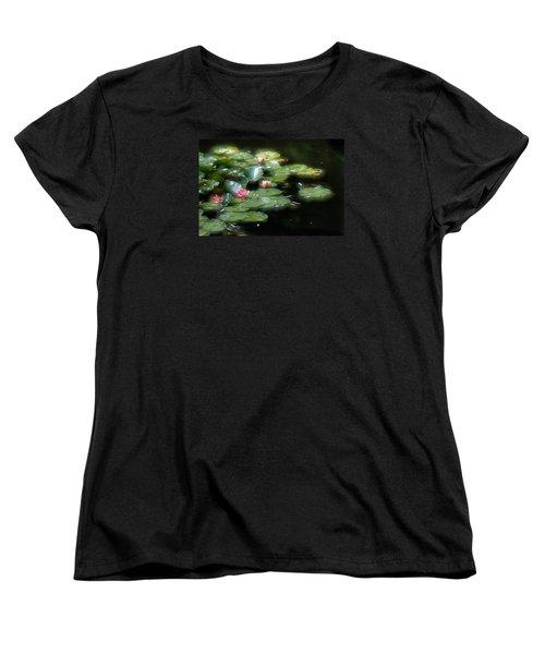 Women's T-Shirt (Standard Cut) featuring the photograph At Claude Monet's Water Garden 11 by Dubi Roman