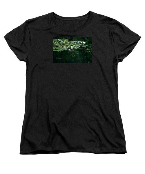 Women's T-Shirt (Standard Cut) featuring the photograph At Claude Monet's Water Garden 8 by Dubi Roman