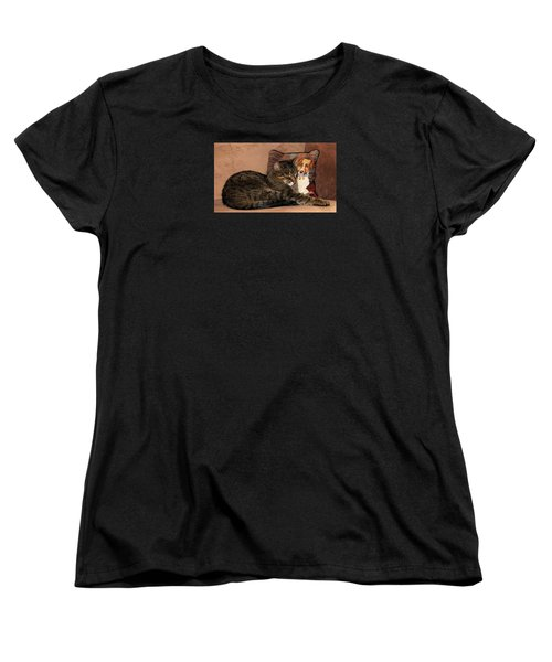 At Least One Thing Dogs Are Good For Women's T-Shirt (Standard Cut) by Angela Davies