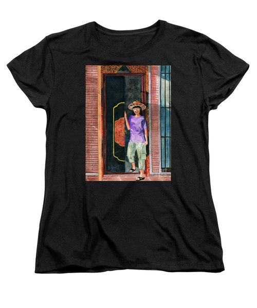 Women's T-Shirt (Standard Cut) featuring the painting At Puri Kelapa by Melly Terpening