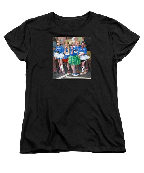 At The Start Of Their Run Women's T-Shirt (Standard Cut) by Mark Lunde