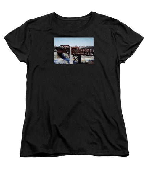 At Three Bridges Park Women's T-Shirt (Standard Cut) by David Blank