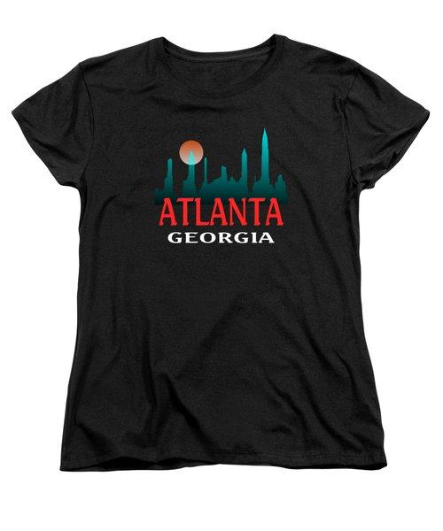 Atlanta Georgia Tshirt Design Women's T-Shirt (Standard Cut) by Art America Gallery Peter Potter