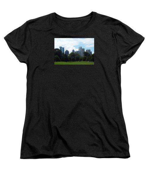 Atlanta Skyline Women's T-Shirt (Standard Cut) by Jake Hartz