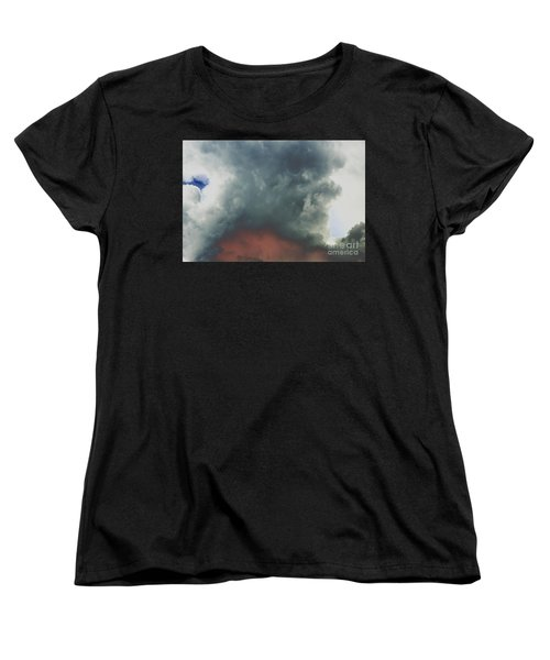 Women's T-Shirt (Standard Cut) featuring the photograph Atmospheric Combustion by Jesse Ciazza