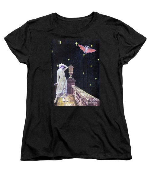 Women's T-Shirt (Standard Cut) featuring the mixed media Attempted Pick Up by Desiree Paquette