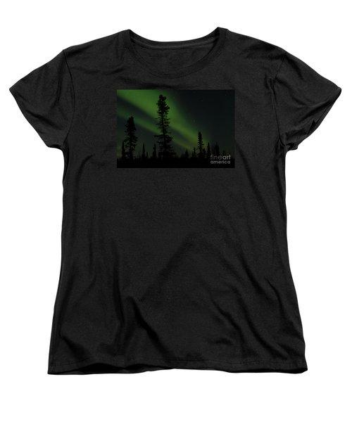 Aurora Borealis The Northern Lights Interior Alaska Women's T-Shirt (Standard Cut)