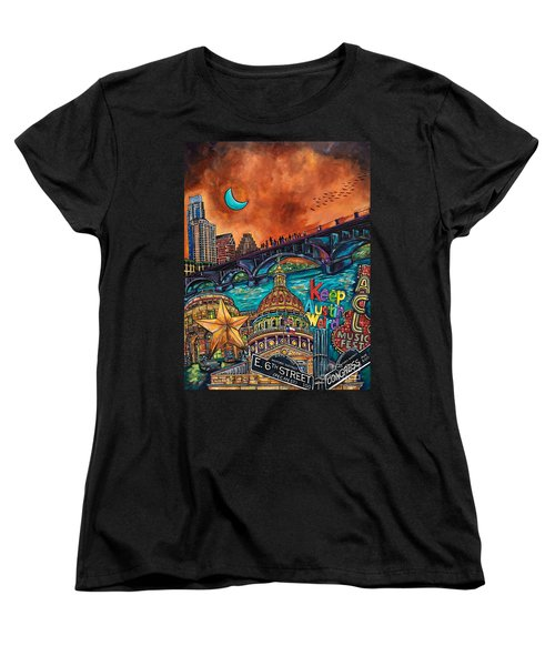 Austin Keeping It Weird Women's T-Shirt (Standard Cut) by Patti Schermerhorn